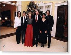 The Reagan Family Christmas Portrait Acrylic Print by Everett