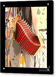 The Red Accordian Acrylic Print by Margie Avellino