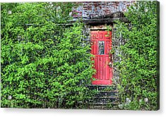 The Red Door Acrylic Print by JC Findley