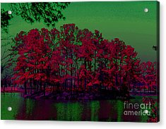 The Red Forest Acrylic Print