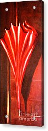Acrylic Print featuring the painting The Red Umbrella by Therese Alcorn