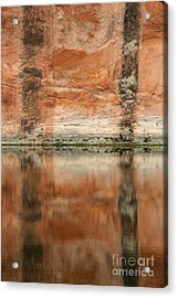Acrylic Print featuring the photograph The Reflecting Wall by Nola Lee Kelsey