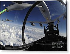 The Refueling Boom From A Kc-135 Acrylic Print by Stocktrek Images
