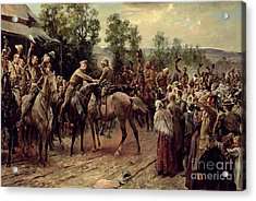 The Relief Of Ladysmith On 27th February 1900 Acrylic Print by John Henry Frederick Bacon