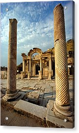 The Remains Of Hadrians Gate At Ephesus Acrylic Print by Gordon Gahan