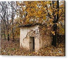 The Remote Autumn Hut Acrylic Print by Issam Hajjar