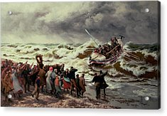 The Return Of The Lifeboat Acrylic Print by Thomas Rose Miles