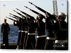 The Rifle Detail Aboard Acrylic Print by Stocktrek Images
