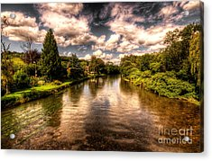 The River Exe At Bickleigh Acrylic Print by Rob Hawkins