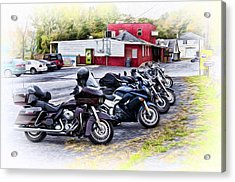 The Riverside Barr And Grill - Easton Pa Acrylic Print by Bill Cannon