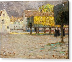 The Road - Songeons Acrylic Print by Henri Eugene Augustin Le Sidaner