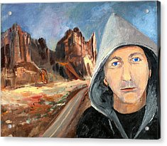 Acrylic Print featuring the painting The Road by Rosemarie Hakim