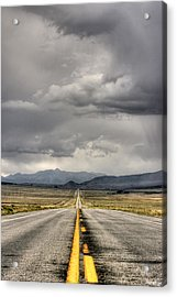 The Road Acrylic Print by Stellina Giannitsi