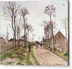 The Road To Saint Cyr At Louveciennes Acrylic Print by Camille Pissarro