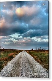 The Road To Somewhere Acrylic Print by Julie Dant