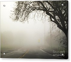 Acrylic Print featuring the photograph The Road To Work by Leslie Hunziker