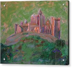 The Rock Of Cashel Acrylic Print by Rosemen Elsayad