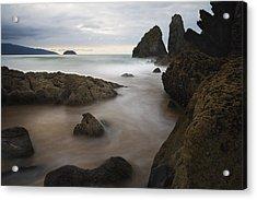 The Rocks Of Laga Beach Acrylic Print by Fernando Alvarez