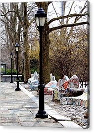 Acrylic Print featuring the photograph The Rolling Bench by Anne Raczkowski