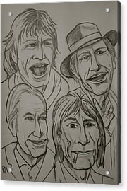 The Rolling Stones Acrylic Print by Pete Maier