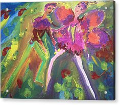 The Rose And The Butterfly Acrylic Print by Judith Desrosiers