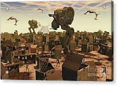 The Ruins Of An Earth Type Environment Acrylic Print by Mark Stevenson