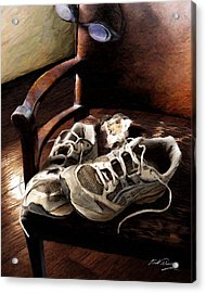 The Runner Acrylic Print by Bill Fleming
