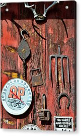The Rusty Barn - Farm Art Acrylic Print by Paul Ward