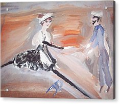 The Sailor And The French Maid Acrylic Print by Judith Desrosiers