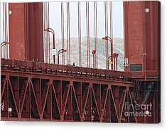 The San Francisco Golden Gate Bridge - 7d19060 Acrylic Print by Wingsdomain Art and Photography
