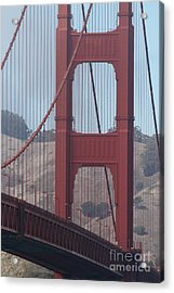 The San Francisco Golden Gate Bridge - 7d19061 Acrylic Print by Wingsdomain Art and Photography