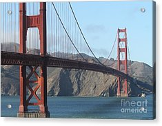 The San Francisco Golden Gate Bridge - 7d19184 Acrylic Print by Wingsdomain Art and Photography