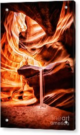 The Sandfall Acrylic Print by Geoffrey Gilson