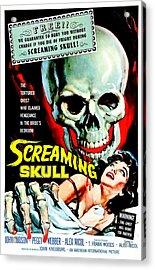 The Screaming Skull, 1958 Acrylic Print by Everett