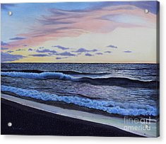 The Sea Was Angry That Day My Friends... Acrylic Print by Dan Lockaby
