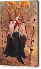 The Seamstress And The Abductions     Acrylic Print by Ethan Harris