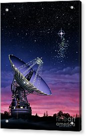 The Search For Extraterrestrial Intelligence Acrylic Print by Lynette Cook
