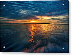 The Seascape Huahin Thailand Acrylic Print by Arthit Somsakul