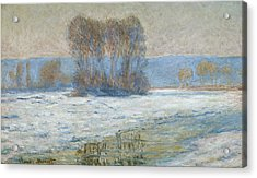 The Seine At Bennecourt Acrylic Print