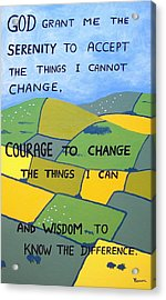 The Serenity Prayer Acrylic Print by Eamon Reilly