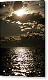 The Setting Sun Pierces A Menacing Acrylic Print by Jason Edwards