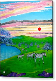 The Setting Sun Acrylic Print