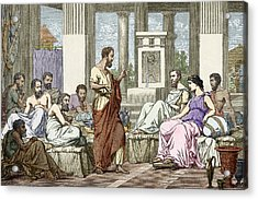 The Seven Sages Of Greece, 7th Century Bc Acrylic Print by Sheila Terry