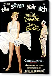 The Seven Year Itch, The, Marilyn Acrylic Print by Everett