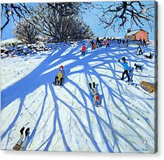 The Shadow Derbyshire Acrylic Print by Andrew Macara