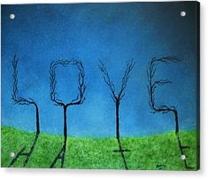 Acrylic Print featuring the painting The Shadow Of Love Is Hate by Edwin Alverio