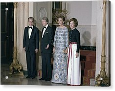 The Shah Of Iran Jimmy Carter Acrylic Print by Everett