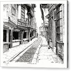 The Shambles  York England Acrylic Print by John Simlett