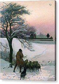 The Shepherd Acrylic Print by EF Brewtnall