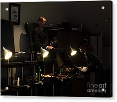 The Shoe Shine Girl - 5d17836 Acrylic Print by Wingsdomain Art and Photography